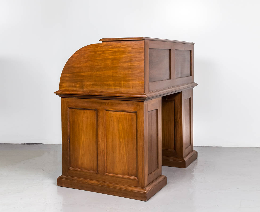 DSK-121 7L British colonial teakwood cylinderdesk l The Past Perfect Collection l Singapore