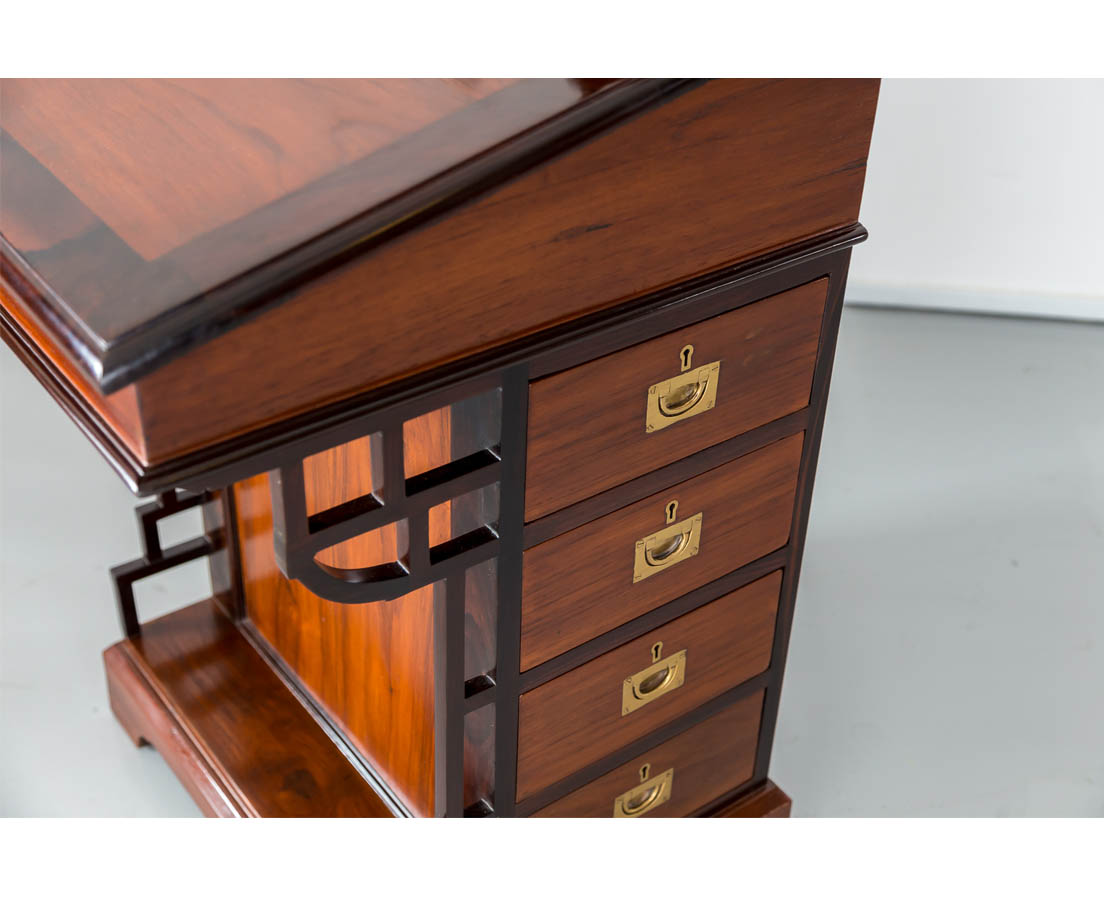 DSK-142 6L British colonial teakwood Davenport desk l The Past Perfect Collection l Singapore