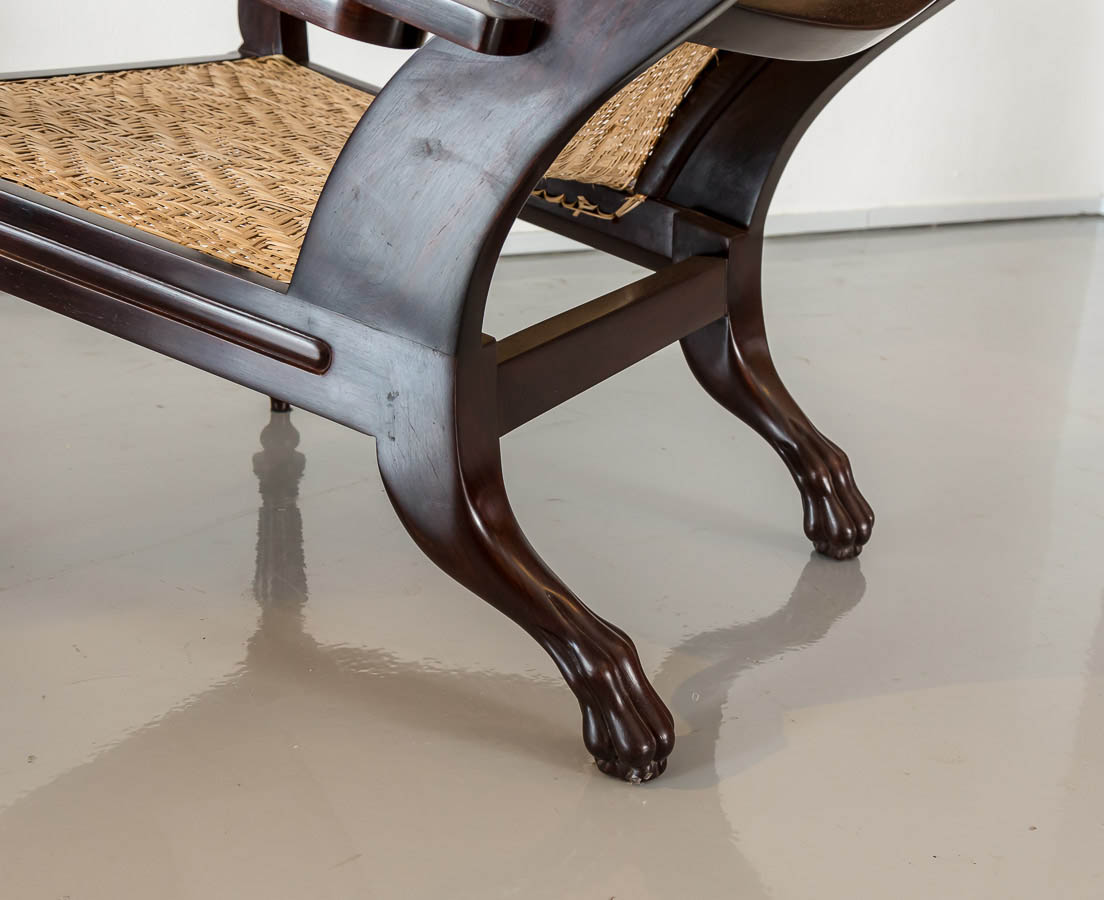 CHA-218 6L British colonial rosewood planter's chair l The Past Perfect Collection l Singapore