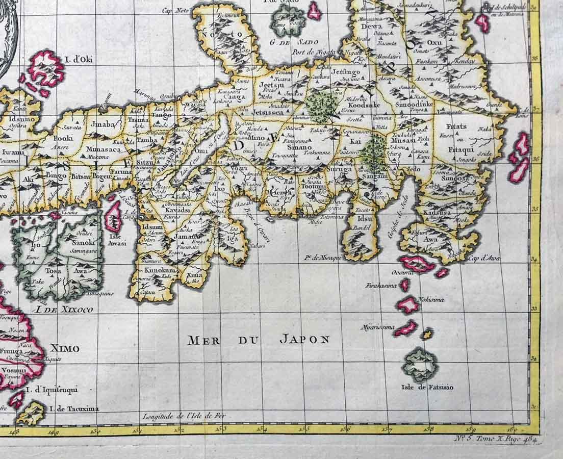 MAP-106 5L Antique Map Japan - Bellin - 1752 l The Past Perfect Collection l Singapore