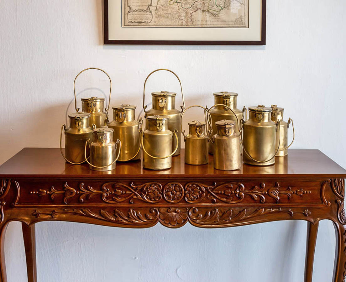 DEC-237-3L Brass Milk Containers l The Past Perfect Collection l Singapore